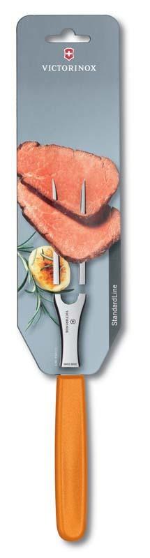 Вилка Victorinox кулинарная, 15 см, оранжевая