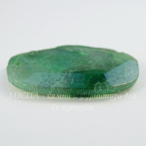 Подвеска Агат (тониров) (цвет - серо-зеленый) 58х40х7,4 мм №25