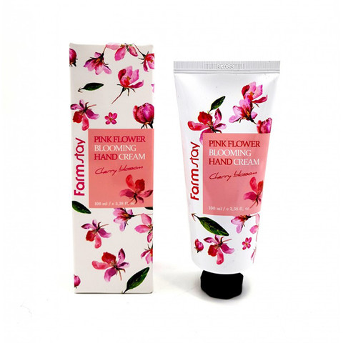 FarmStay Крем для рук Цветение Вишни Pink Flower Blooming Hand Cream Cherry Blossom, 100 мл