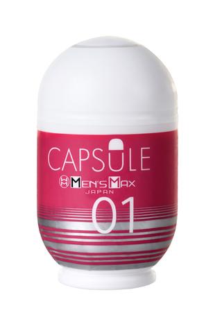 Мастурбатор нереалистичный, CAPSULE 01, Dandara, MensMax, TPE, розовый, 8  см фото