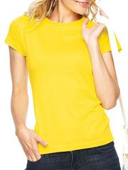 GF1004-1 футболка женская, желтая