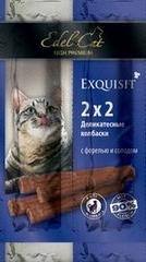 Лакомство для кошек Edel Cat Колбаски-мини, форель, солод