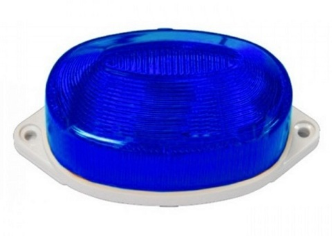 Строб лампа накладная синяя