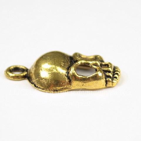 """Подвеска """"Череп"""" (цвет - античное золото) 27х15 мм"""