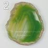 Подвеска Срез Агата (тониров)(цвет - оливковый) 43-76 мм (№2 (50х45 мм))