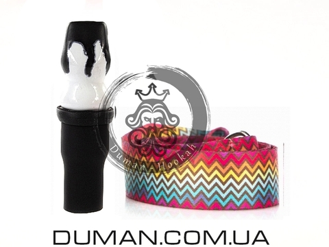Персональный мундштук Gusto Bowls (Густо Болс) |Black-White ColorLine