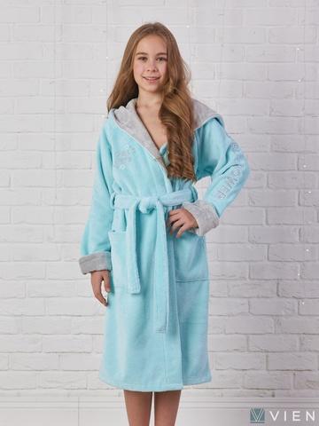 SPORT GIRL (бирюза) детский халат для девочки  Five Wien Турция