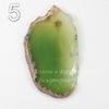 Подвеска Срез Агата (тониров)(цвет - оливковый) 43-76 мм (№5 (70х41 мм))