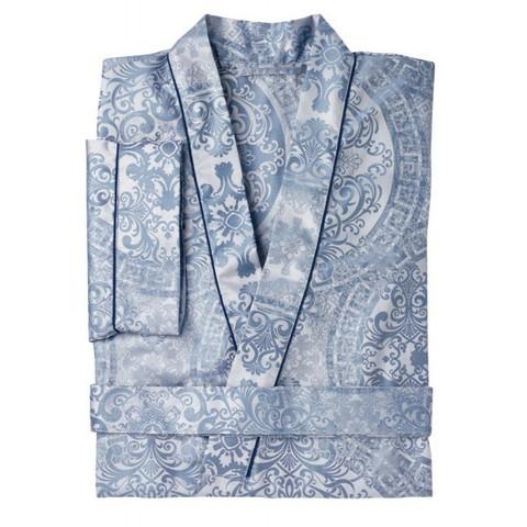 Элитный халат сатиновый Odyssa синий от Curt Bauer