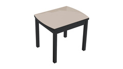 Обеденный раздвижной стол со стеклом «Тенор Т3» С-433 Венге/дуб миланский стекло матовое