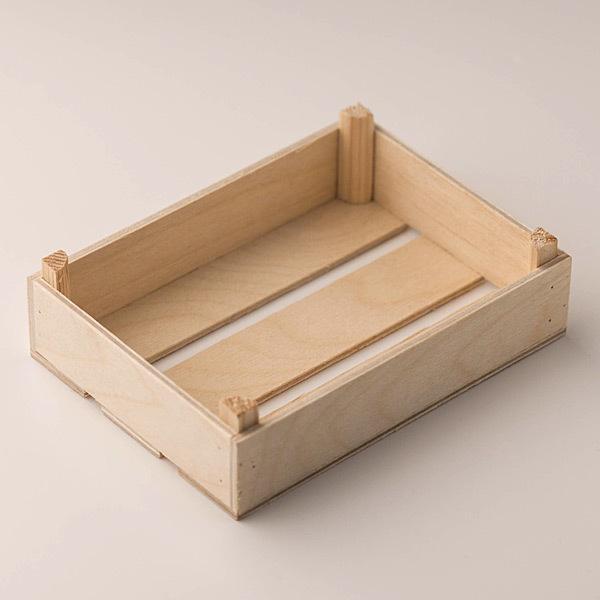 Ящик деревянный для мыла низкий