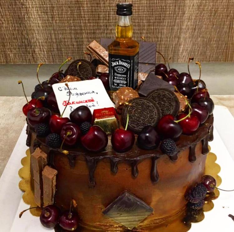 торт папе или шефу на день рождения