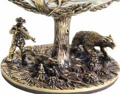 Бокал для коньяка Охота на медведя (Сосна) в шкатулке