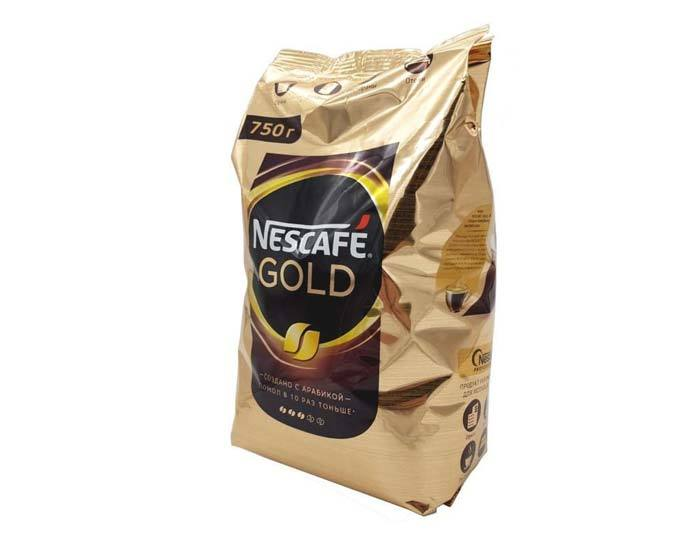 купить кофе растворимый Nescafe Gold, 750 г пакет