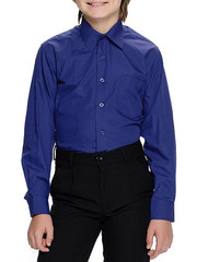 616D-5 рубашка для мальчиков, темно-синяя