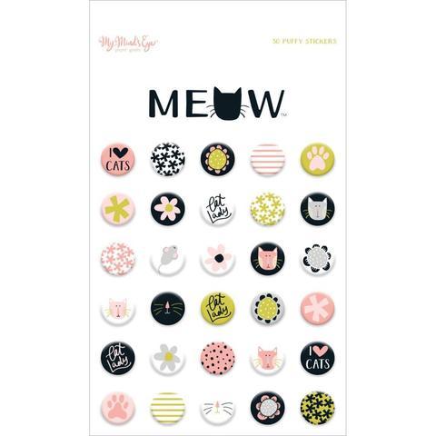 Объемные стикеры  - Meow Puffy Stickers от My Mind's Eye -30шт.