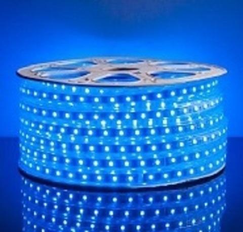 Светодиодная лента SMD5050/60, 220V влагозащищенная. Синяя.