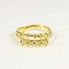 Основа для кольца с петельками (10 петелек) (цвет - золото)