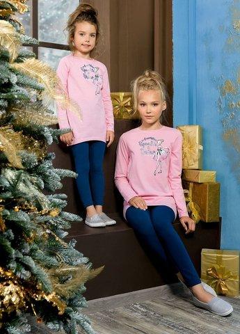 PelicanGFAML3093 Комплект для девочек розовый новогодний