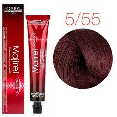 L'Oreal Professionnel Majirel 5.55 (Светлый шатен глубокий красный) - Краска для волос