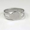 Основа для кольца с круглой площадкой 8 мм (цвет - платина)