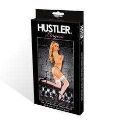 Сексуальное белье чулки в сетку с кружевной резинкой
