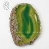 Подвеска Срез Агата (тониров)(цвет - оливковый) 43-76 мм (№6 (71х52 мм))