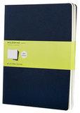 Блокнот Moleskine Cahier XLarge 190х250мм обложка картон 120стр нелинованный синий индиго 3шт (CH223)