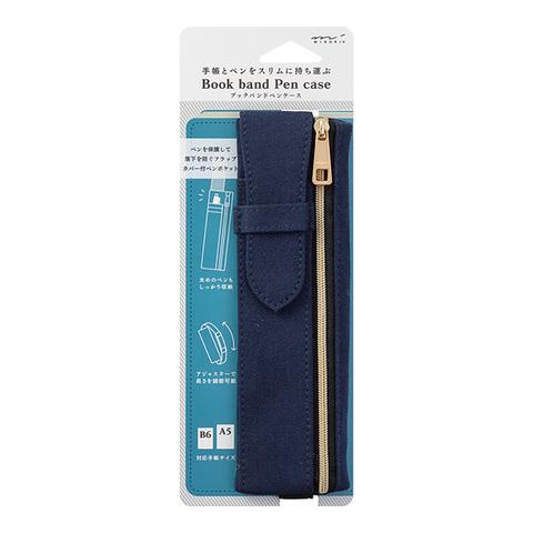 Пенал Midori Book Band Pencase (темно-синий, для блокнотов B6~A5)