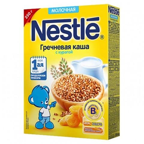 Nestlé® Молочная гречневая каша с курагой 250гр