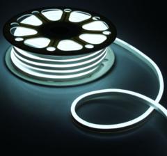 Гибкий неон 8х16 мм, светодиодный | Белый - 25м