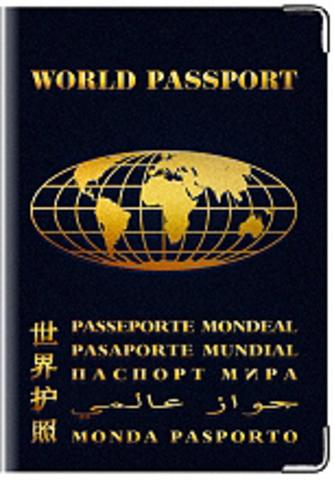 """Обложка для паспорта """"Паспорт Мира"""""""