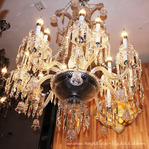 replica BACCARAT ZÉNITH CHANDELIER ( 18 lights + clear colour )