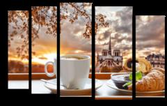 """Модульная картина """"Чашка кофе утром"""""""