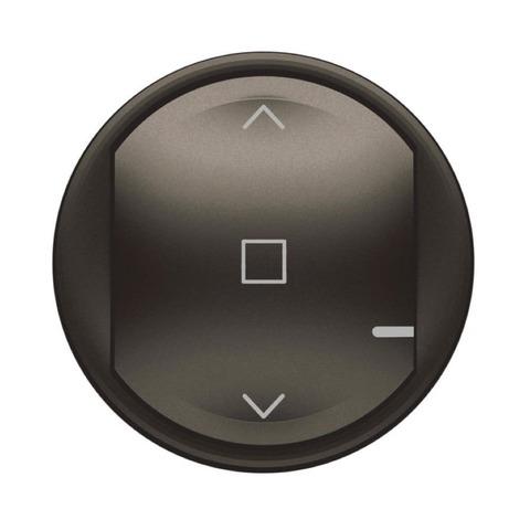 Лицевая панель выключателя жалюзи/рольставни. Цвет Графит. Celiane NETATMO. 064839