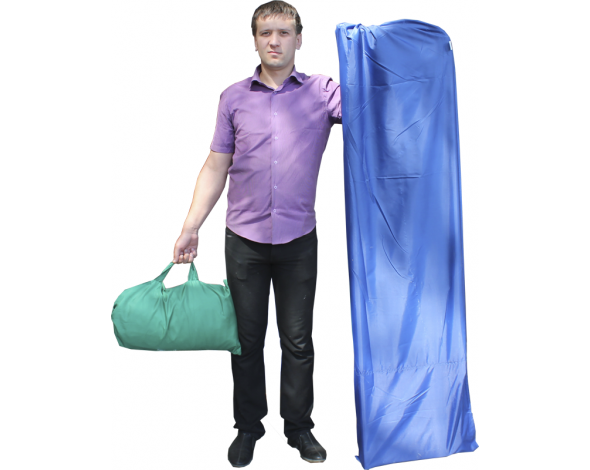 Торговая палатка Митек Домик 2.5x2 из квадратной трубы ⊡20х20 мм с логотипом