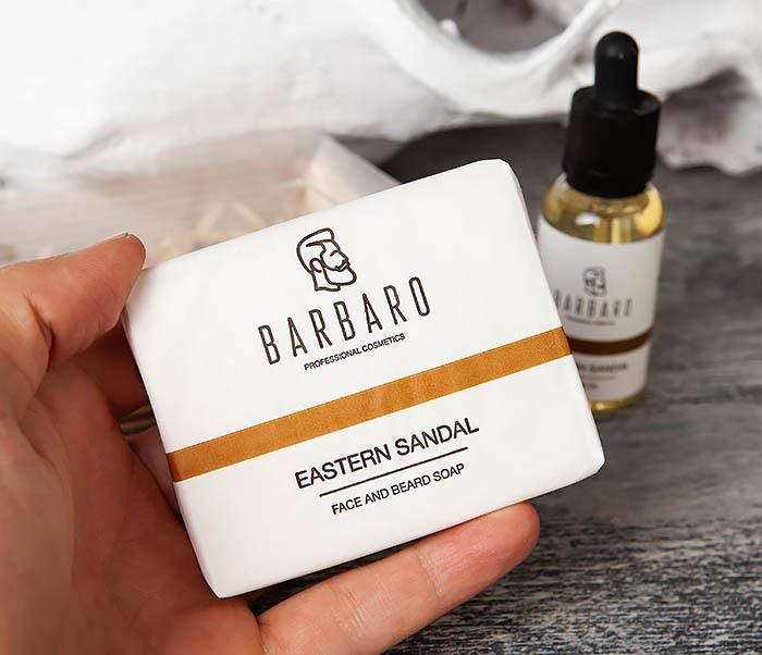 RAZ2004-2 Набор для ухода за бородой, мыло и масло Barbaro фото 04