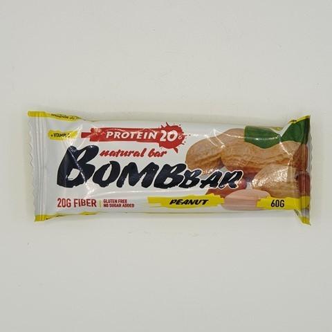 Батончик Natural Bar вкус Арахис BOMBBAR, 60 гр