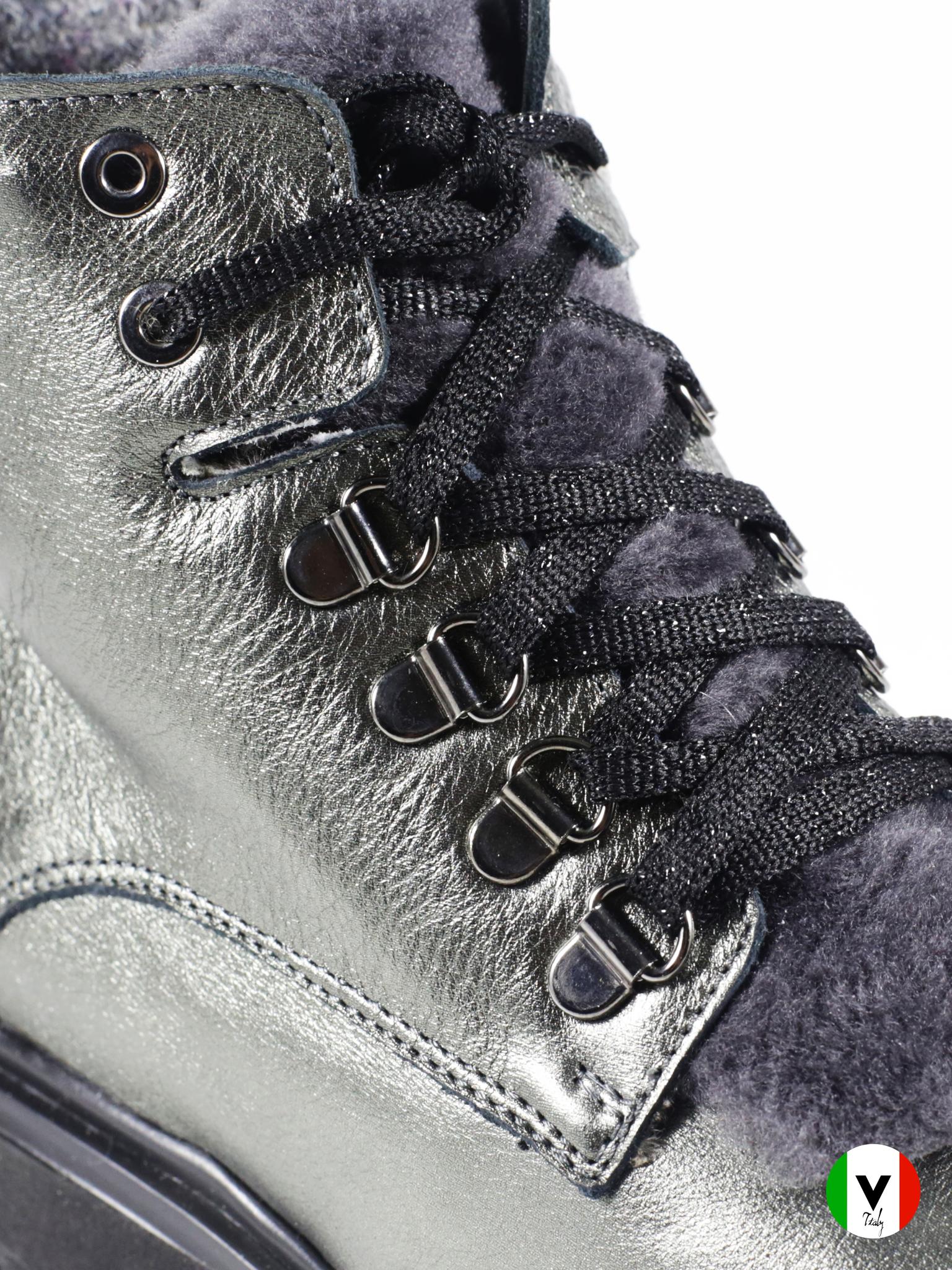 Зимние ботинки Giada Gabrielli из кожи 844, артикул 844, сезон зима, цвет серый, материал кожа, цена 11 000 руб., veroitaly.ru