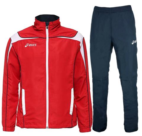 ASICS SUIT WORLD мужской спортивный костюм красный