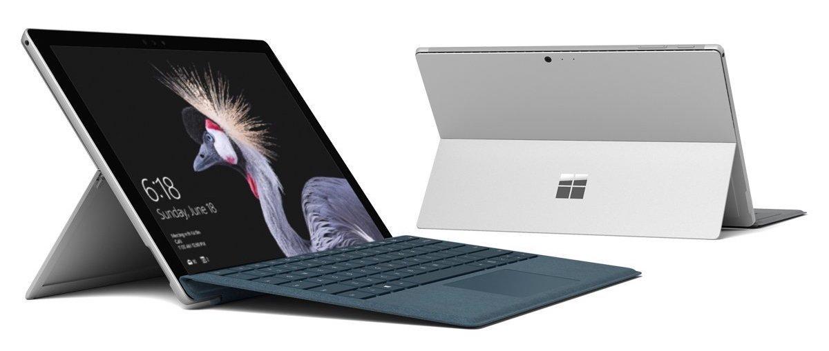 Клавиатура-чехол Type Cover Black с подсветкой для планшета Microsoft Surface 4 (Черный)