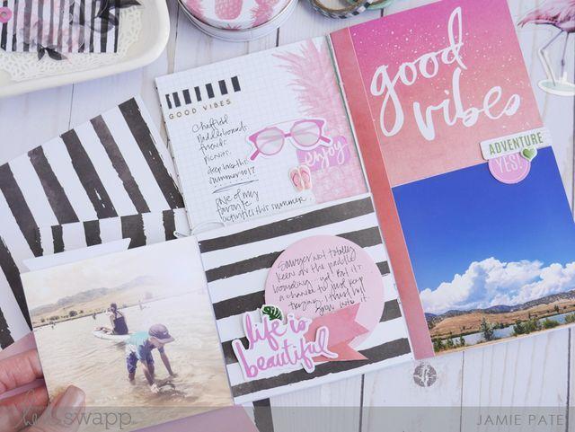Внутренний блок с карточками Heidi Swapp Pineapple Crush Cardstock Mini Messages