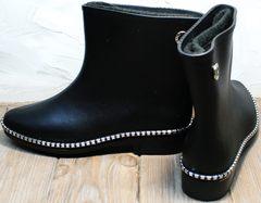 Резиновая женская обувь Hello Rain Story 1019 Black