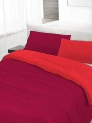 Пододеяльник 200х200 Caleffi Tinta Unito Bicolor бязь красный/коралловый