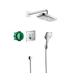 Комплект душевой системы внутреннего монтажа с термостатом Hansgrohe Raindance Select E 27296000 фото