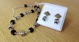 Комплект Арлекино Rombo Argento (серьги, ожерелье)