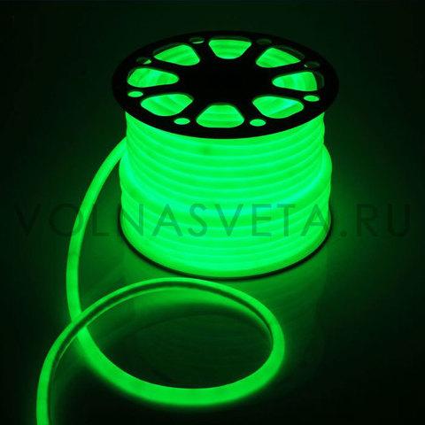 Гибкий неон D16 - круглый, светодиодный | Зеленый - 50м