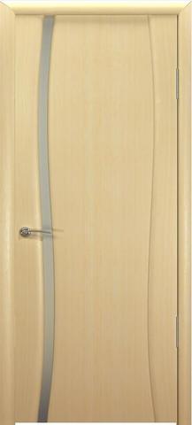 Дверь Океан Буревестник-1, стекло белое, цвет беленый дуб, остекленная