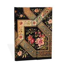 Ежедневник Paperblanks Filigree Floral Ebony  Миди