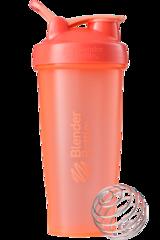 BlenderBottle Classic Шейкер классический с венчиком-пружинкой коралловый оранжевый 828 мл